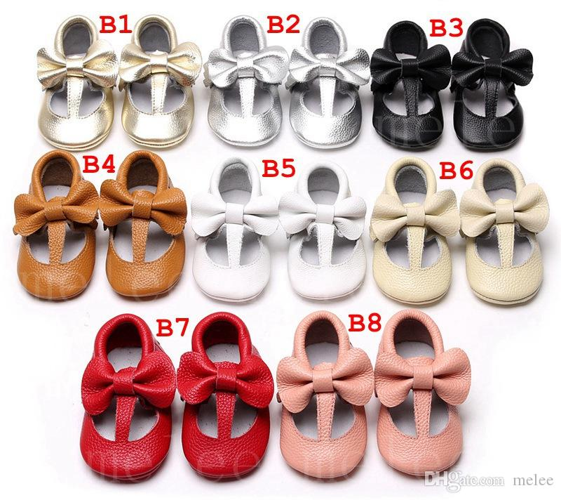 716061e5f09 XMAS INS Toddler Girls Bow Mocss Shoes Soft Sole Casual Girl Baby ...