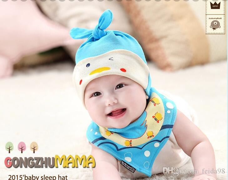 Cappellini neonati Puntelli fotografia neonatali Bavaglini cappelli bambini Ragazzi e ragazze Bavaglini Bandana baby Beanie Sleep G586