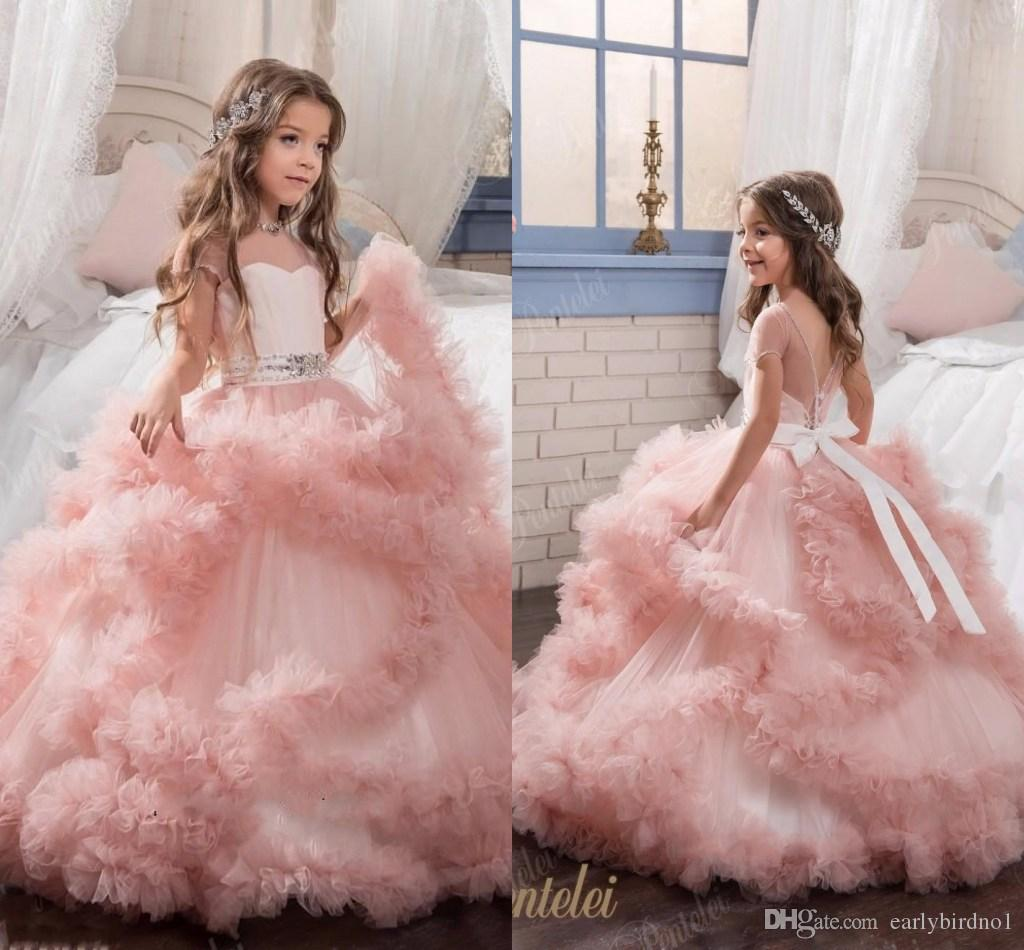 2017 New Arrival Glitz Pageant Dresses Ball Gown Crystal