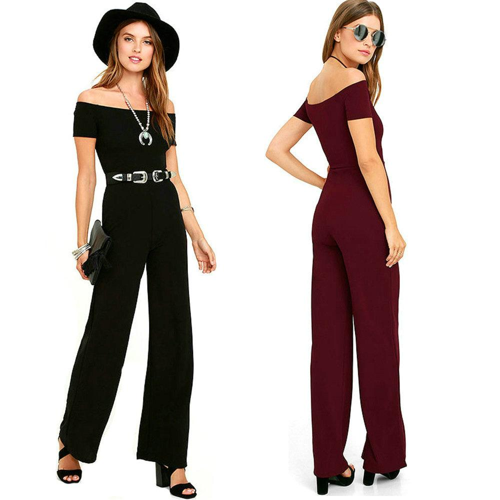 9bf4cfce7a28 Sexy Women s Jumpsuit Strapless Elegant Long Jumpsuits Lady s Pants ...