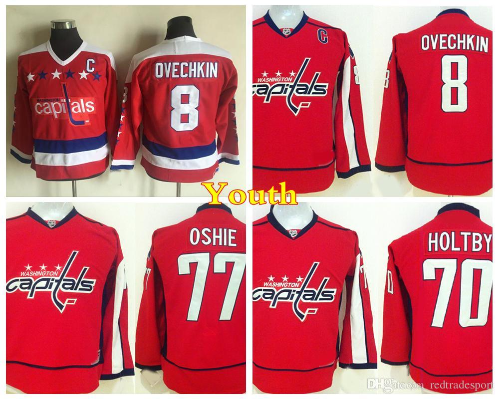 ... Washington Capitals Hockey Jerseys 8 Alex Ovechkin 77 Tj Oshie 70  Braden Holtby Kids Reebok Washington Capitals 8 Youth Alex Ovechkin  Authentic Red ... 5c4406cf7373