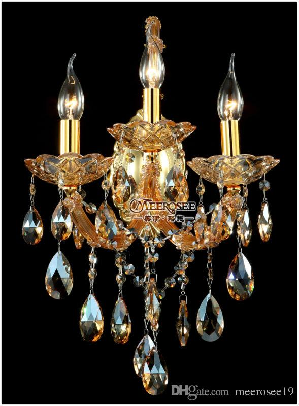Vintage Maria Theresa Crystal Wall Sconces Light Fixture with 3 ...