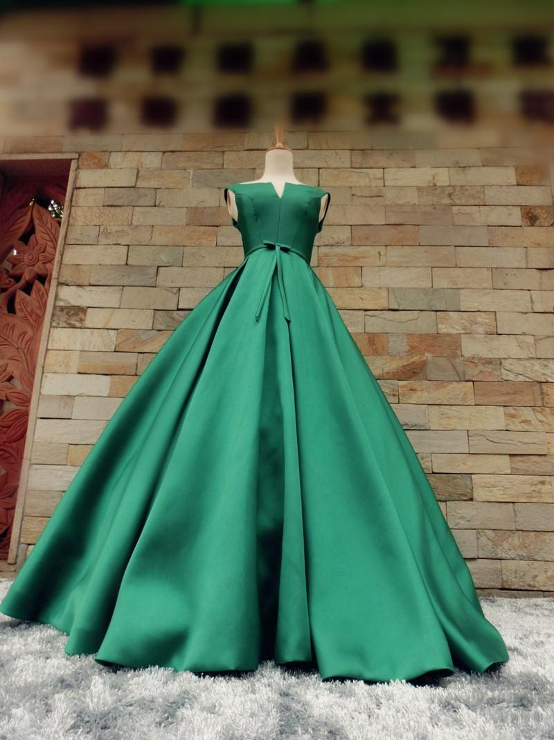 robe de soiree green long prom dresses 2018 new style sexy v-neck party gown evening dress ball gown bow vestidos lace up