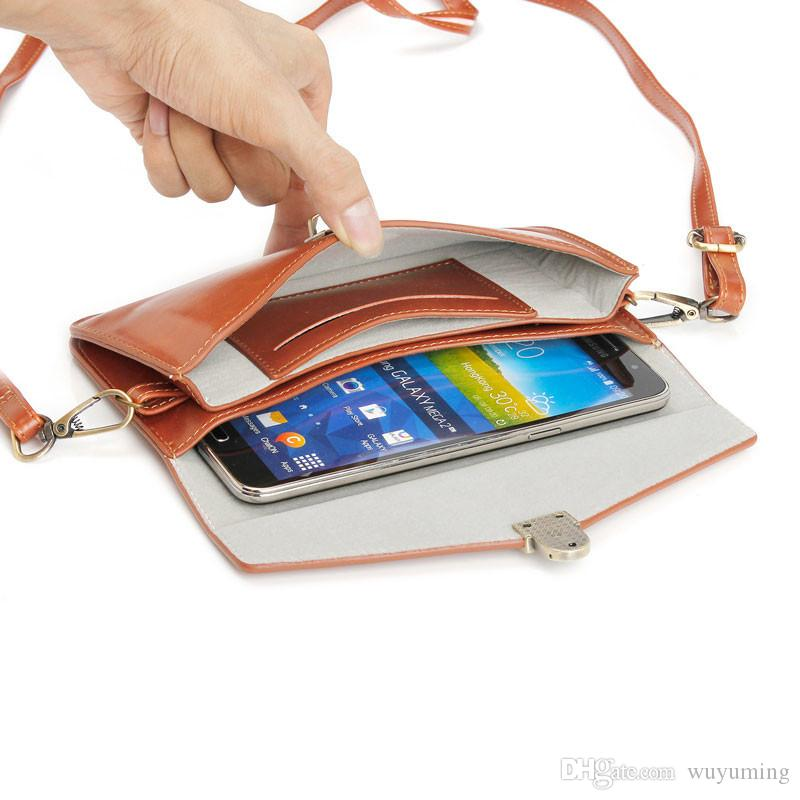 Multipurpose Mini Crossbody Pouch Cell Phone Bag Wallet Case Purse with Shoulder Strap/Belt Loop for Phone 7plus Under 6.3 inch