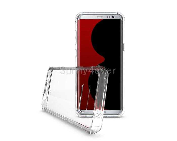 New Acrylic Crystal Transparent Back Drop-proof Bumper Case Cover Hybrid Slim Armor For Samsung Galaxy S8 Plus G9500
