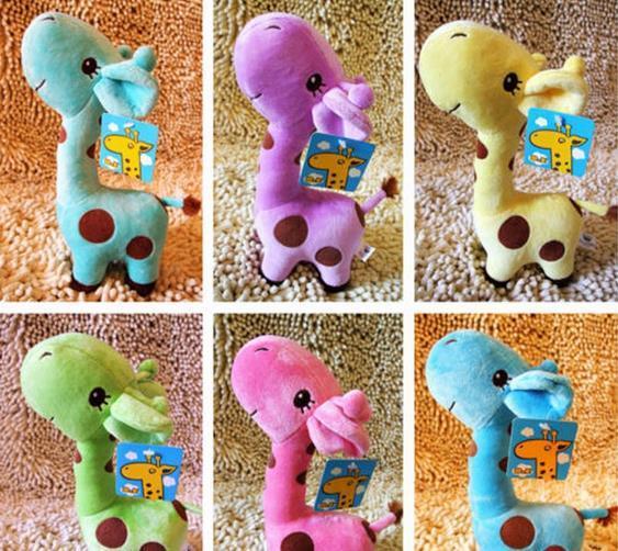 Kid Crianças Presente de aniversário lindo do girafa de Pelúcia Animal Plush Caro boneca