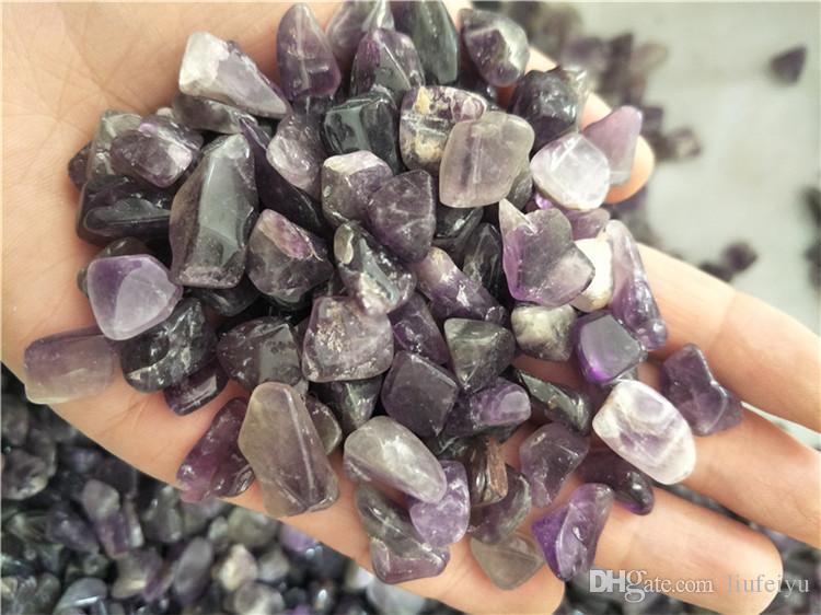 100 g natural ametista quartzo cascalho pedra ametista de cristal caiu pedra de quartzo para decoração de casa