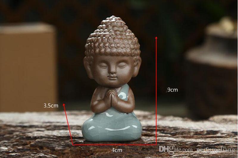 Chinesische Zen Kleine Buddha Lila Ton Ge Ofen Keramik Tee Haustiere Ornamente Teezeremonie Tee-Set Dekoration Handwerk Ornament ZA2889
