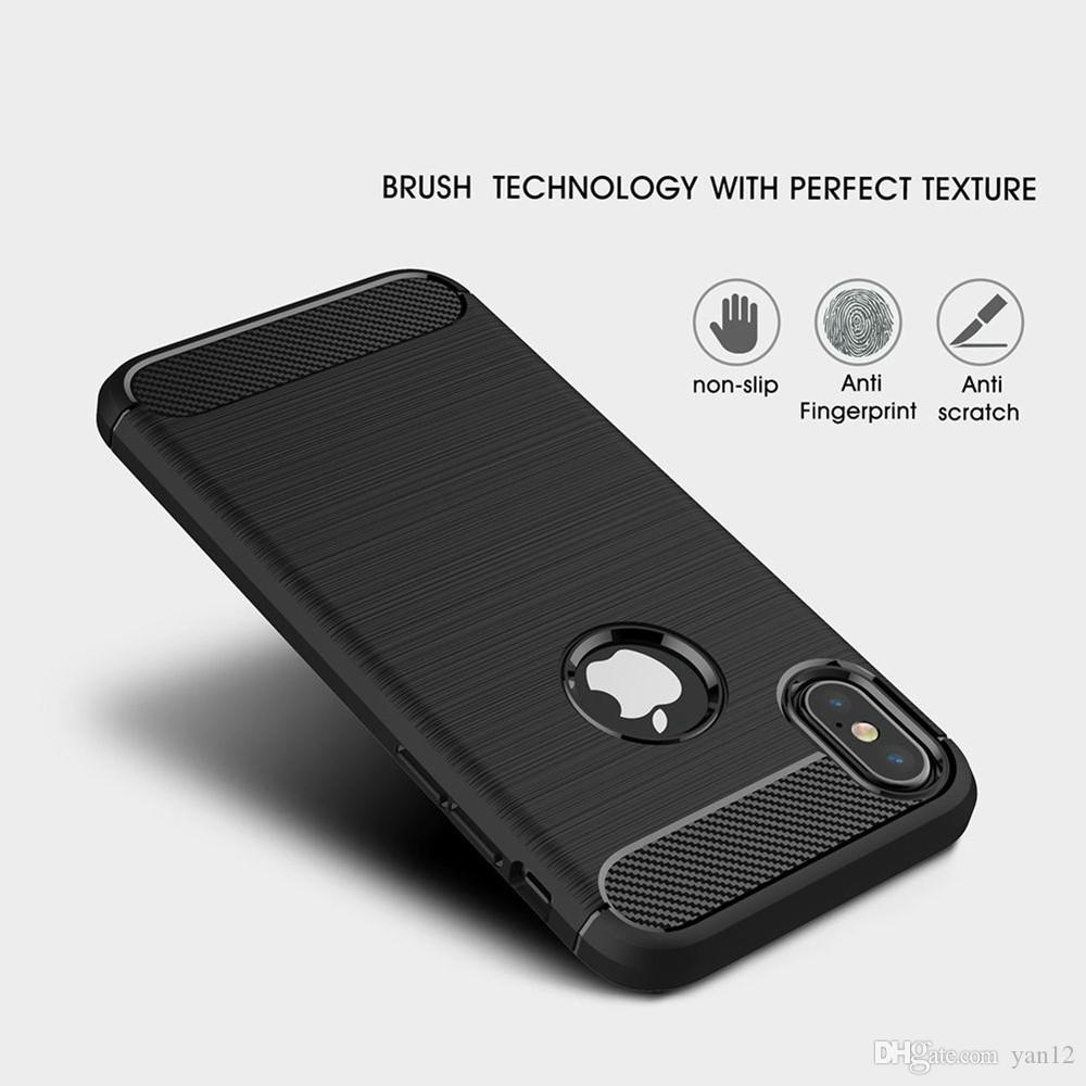 Carbon Fiber Case for Samsung Galaxy Note 9 8 S8 S9 S7 edge For iPhone XS Max XR X 8 7 6 6S Plus Cover Soft TPU Shockproof Mobile Phone Bags