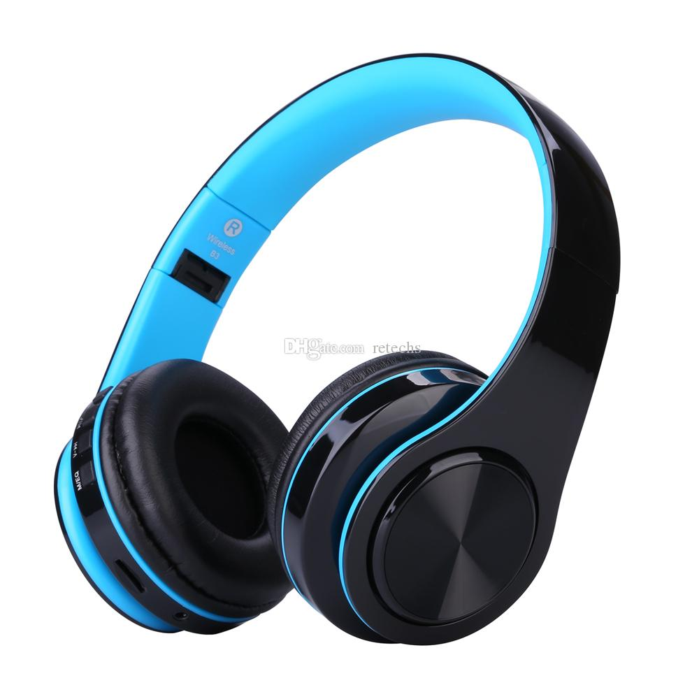 WH812 Drahtlose Kopfhörer tragbar Falten Bluetooth V4.0 + EDR Kopfhörer drahtlose Kopfhörer mit MP3-Player Micphone Unterstützung Mini-SD-Karte tf