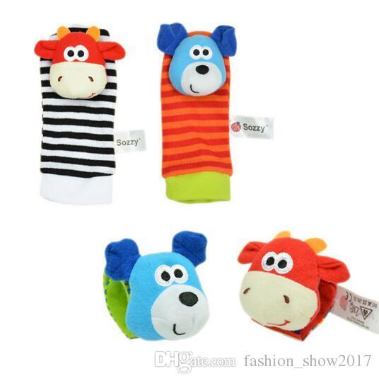 Sezzy Hot Baby Zabawki Skarpety zabawki dla dzieci Prezent Pluszowy Ogród Bug Wrist Hander 3 Style Zabawki Edukacyjne Słodkie Jasne Kolor