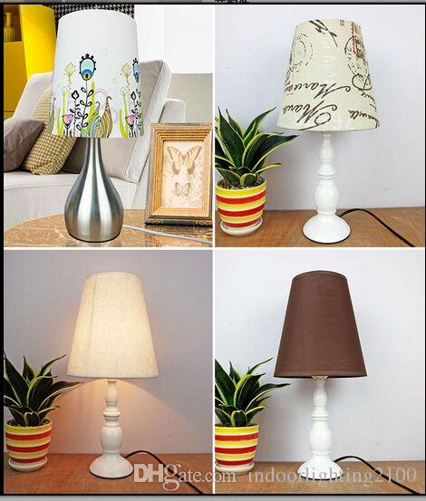 Promotion Simple Style Screw E27 Quality Fabric Lamp Covers&Shades Used for Small Table Lamps Wall Lights Lamp Chandelier Lighting Parts