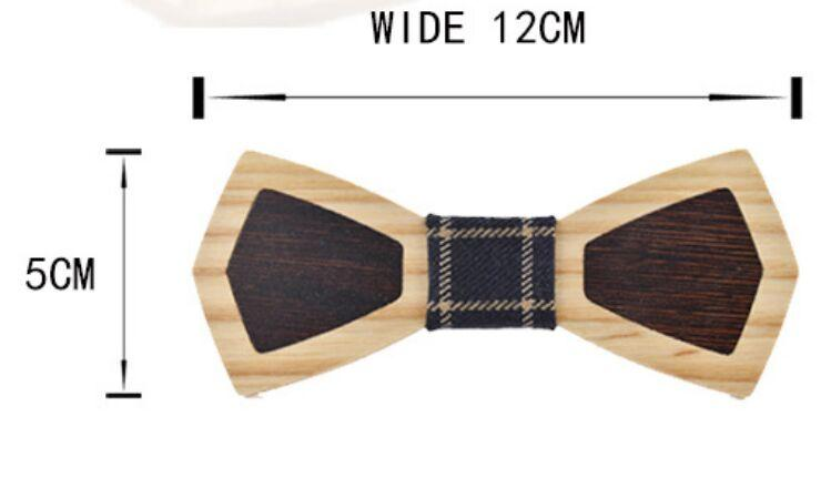 Splice Wood Bowtie 15 styles Handmade Vintage Traditional Bowknot finished product DIY Wooden Bow tie 12*5cm For adults