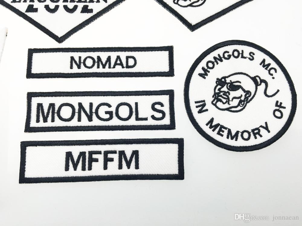 Mongols Nomad MC Biker Vest Вышивальные патчи 1% MFFM в Memory Strong на полной задней части куртки