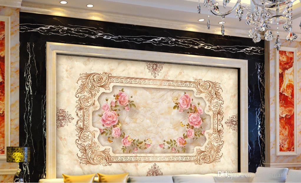 обои для стен 3d фото обои пользовательские обои для гостиной классический европейский камень рельефы ТВ стены фон стены