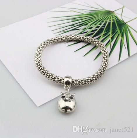 Or / Argent / maïs ton or rose chaîne extensible Bracelets de femmes