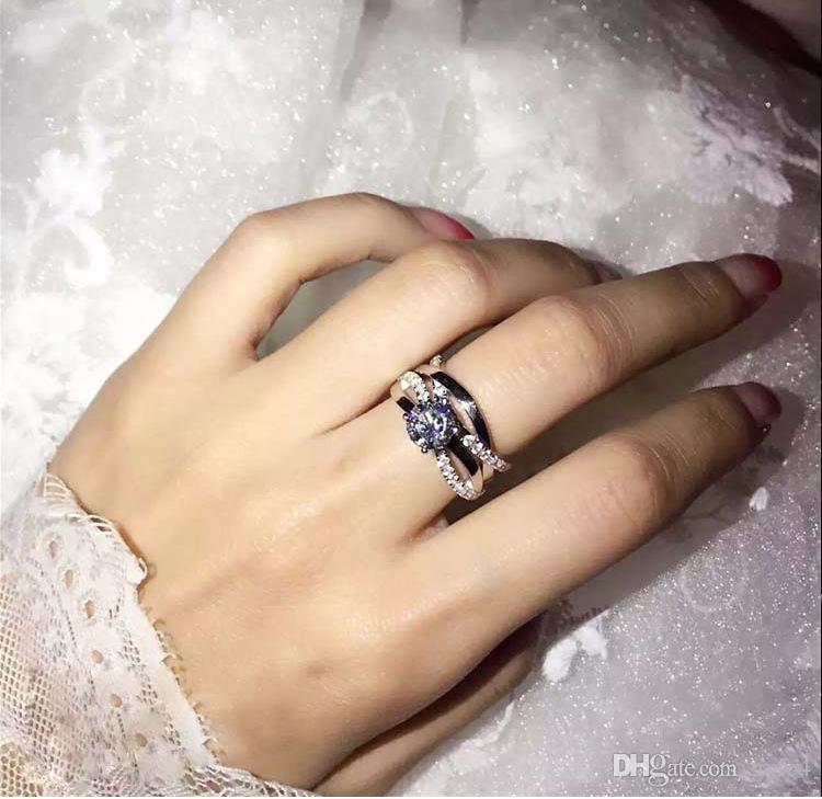فيكتوريا wieck الأميرة قص توباز مقلد الماس 925 فضة المرأة خطوبة زفاف باند الطوق مجموعة