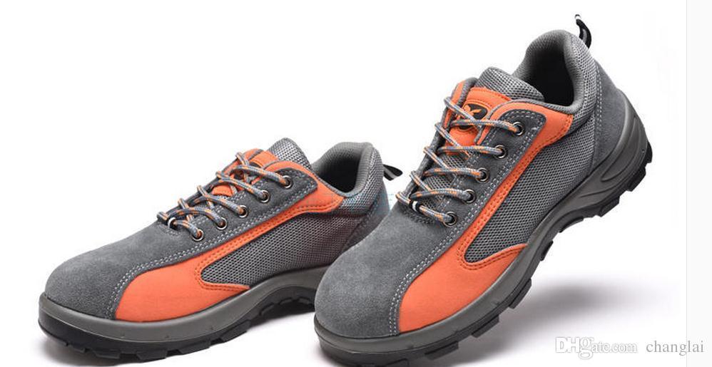 YOKOTEK été respirant protection hommes résistant à l'usure anti-écrasement anti-perçage chaussures de sécurité protectrices fonctionnent pour les hommes