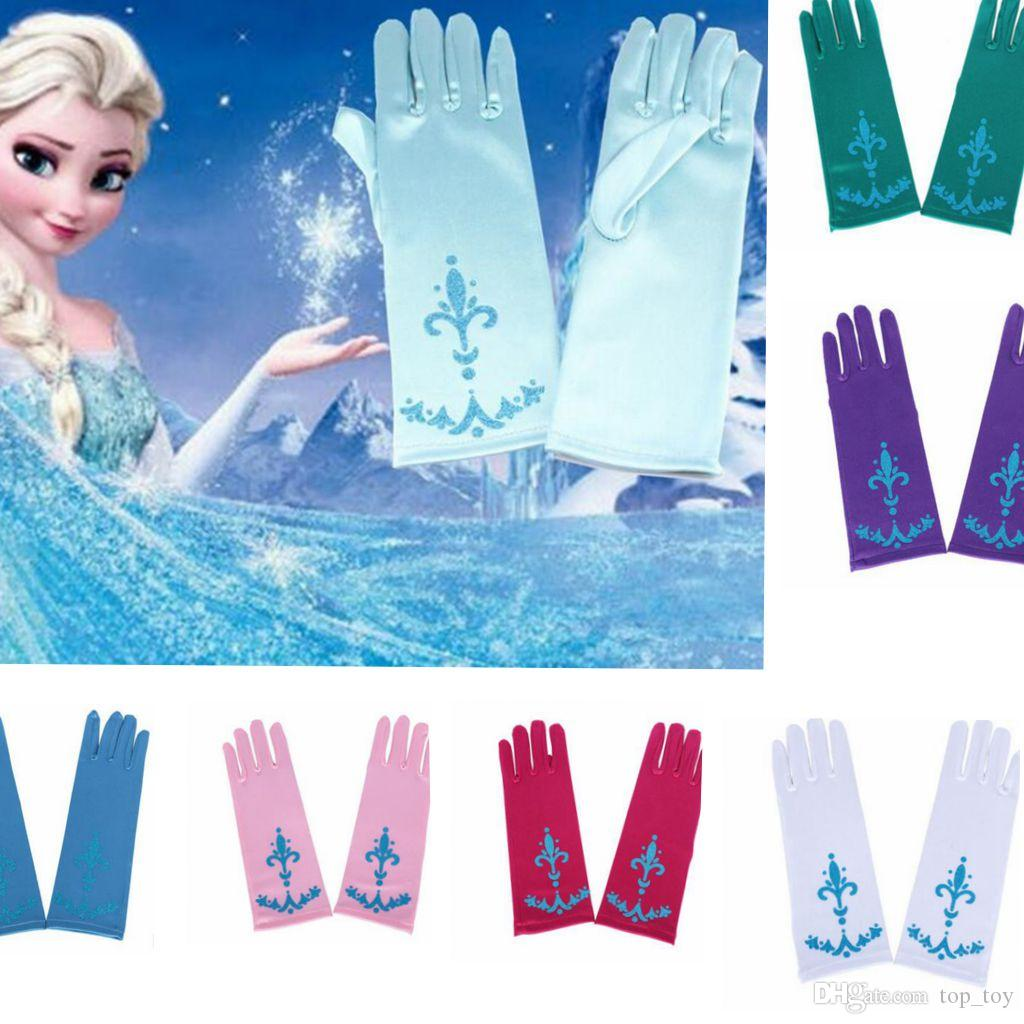 kids frozen elsa anna princess gloves halloween costume full finger gloves for halloween christmas party snow queen glove kka2651 gloves for toddlers with - Halloween Costumes Of Elsa