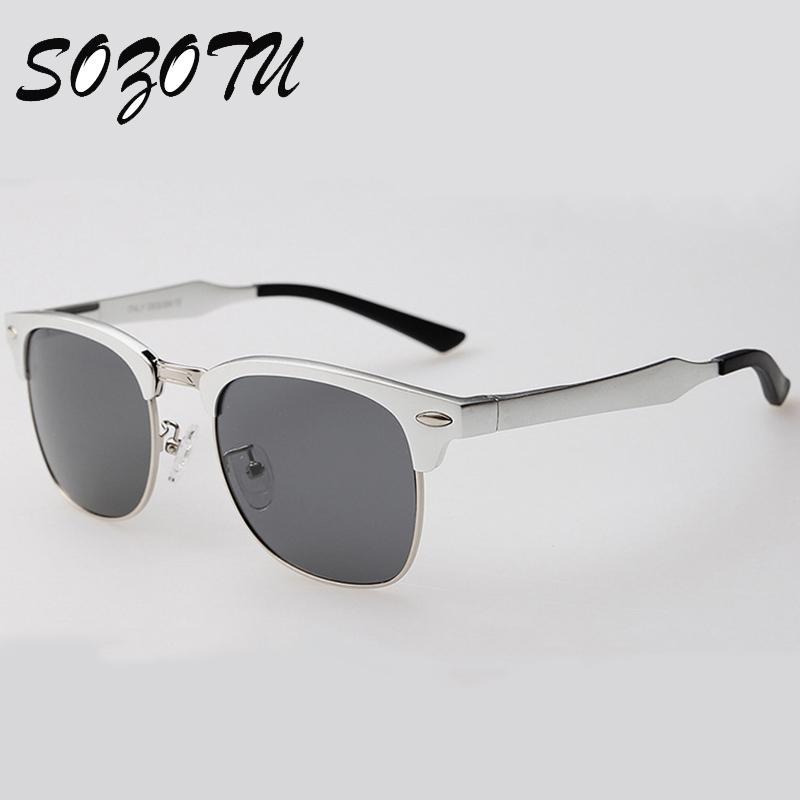 Compre Atacado Frame De Alumínio Magnésio Polarizada Óculos De Sol Das  Mulheres Dos Homens De Condução Designer De Marca De Luxo Óculos De Sol  Para O ... 6323e2de25