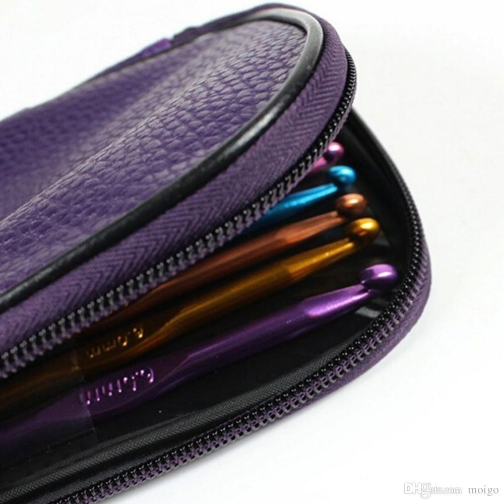 Алюминиевые крючки для вязания спицами Набор многоцветных трикотажных изделий Weave Craft Пряжа Швейные инструменты Крючки для вязания спицами