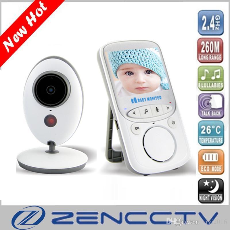 2.4 Inch Wireless Baby Monitor Two Way Intercom Temperature Display Night Vision Video Audio digital Camera Home Security