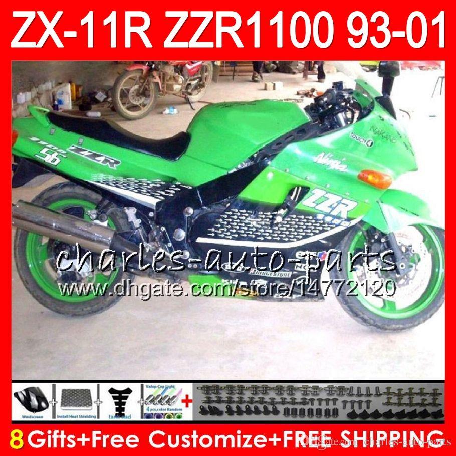 8gifts For Kawasaki Ninja Zx11 Zx11r 93 01 94 95 96 97 Zzr 1100 22no35 Green Black Zzr1100 Zx