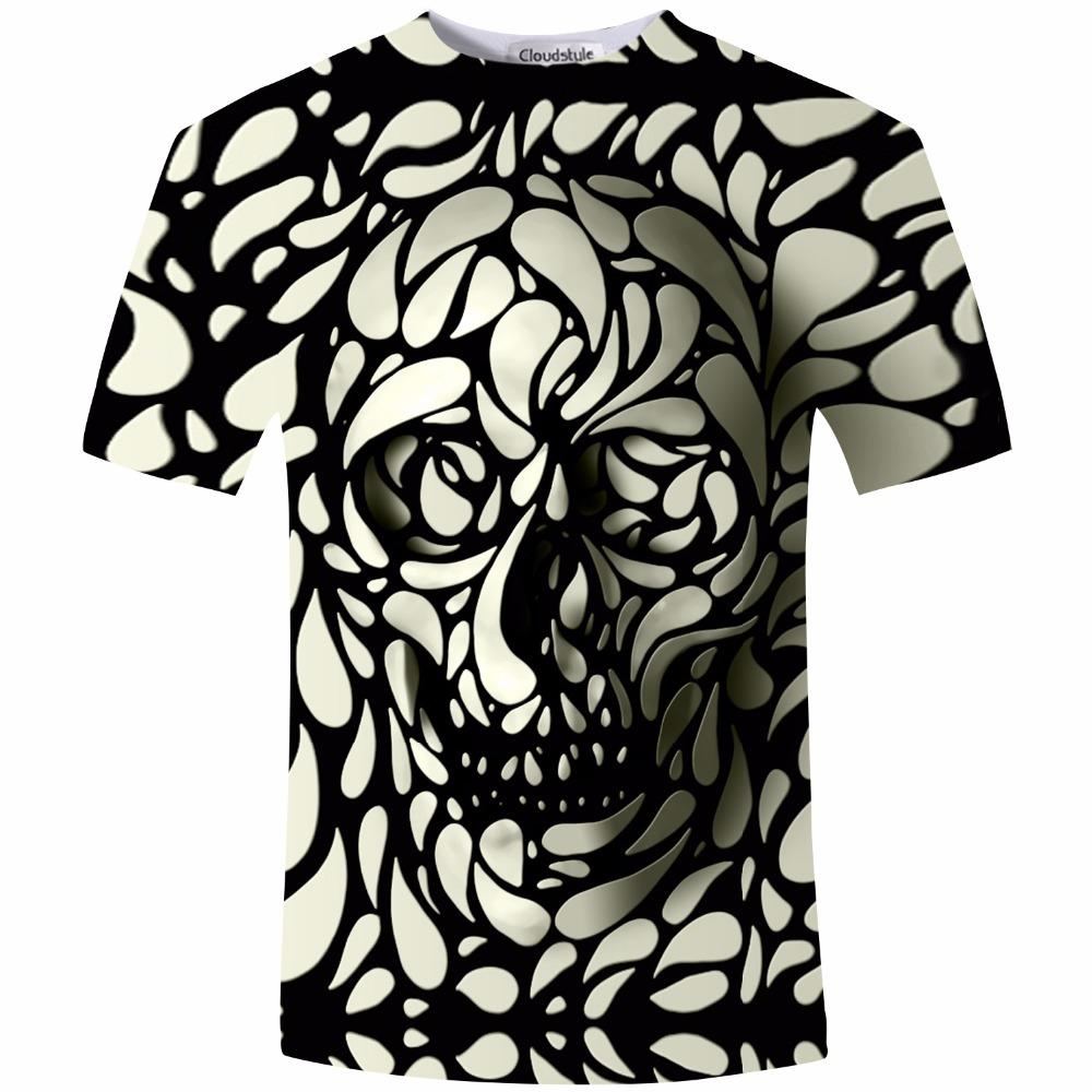 Design t shirt skull - Wholesale New Design Skull Print Mens Tshirt Fashion 3d T Shirt Summer Short Sleeve Casual Breathable Tops Tee Plus Size 5xl T Shirt Homme Awesome Cheap T