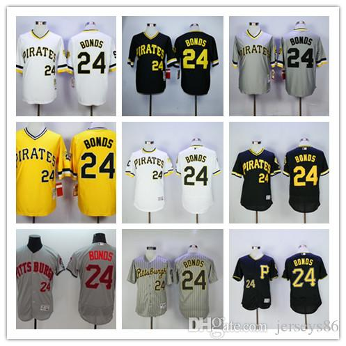 706fc73f1 ... switzerland mens pittsburgh pirates 24 barry bonds yellow pullover  throwback stitched mlb jersey by mitchell ness