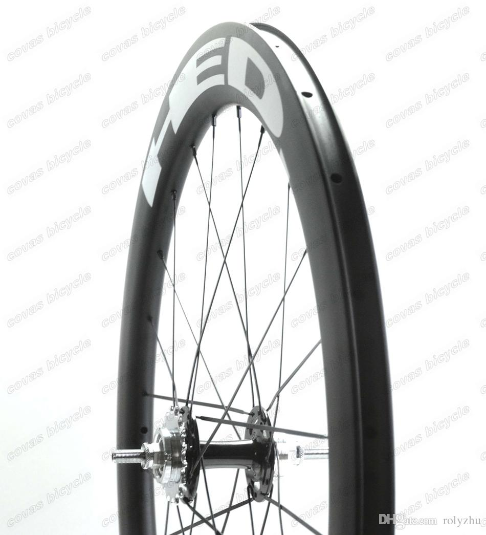 700c bicycle wheels track 60mm clincher wheels carbon track wheel fixed gear single speed wheelset with hub Novatec 165/166