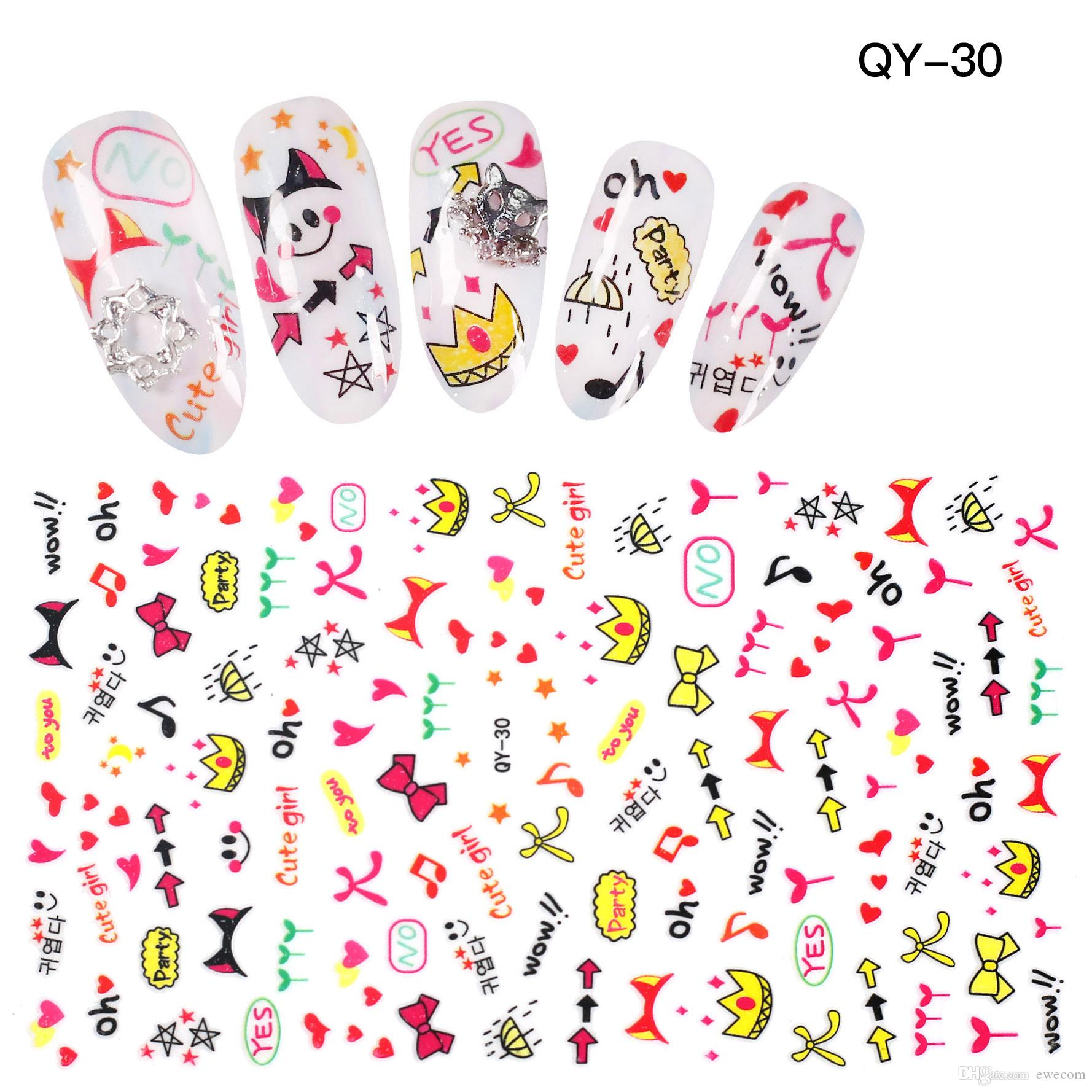 High Quality Cute Bowknot Nail Art Stickers Decals Nail Crown Design ...