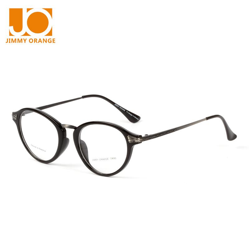 bf69e5a8917 2019 Wholesale Jimmy Orange New Brand Design Glasses Frame Women Myopia  Glasses Oval Alloy Frame With Glasses Case JO305 From Value222