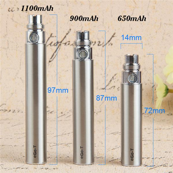 E Cigarette eGo-T Battery 650 900 1100mAh Vape Pen 510 Thread Vaporizer eGo T With USB Chargers Fit 510 EGO Atomizers 100% Quality