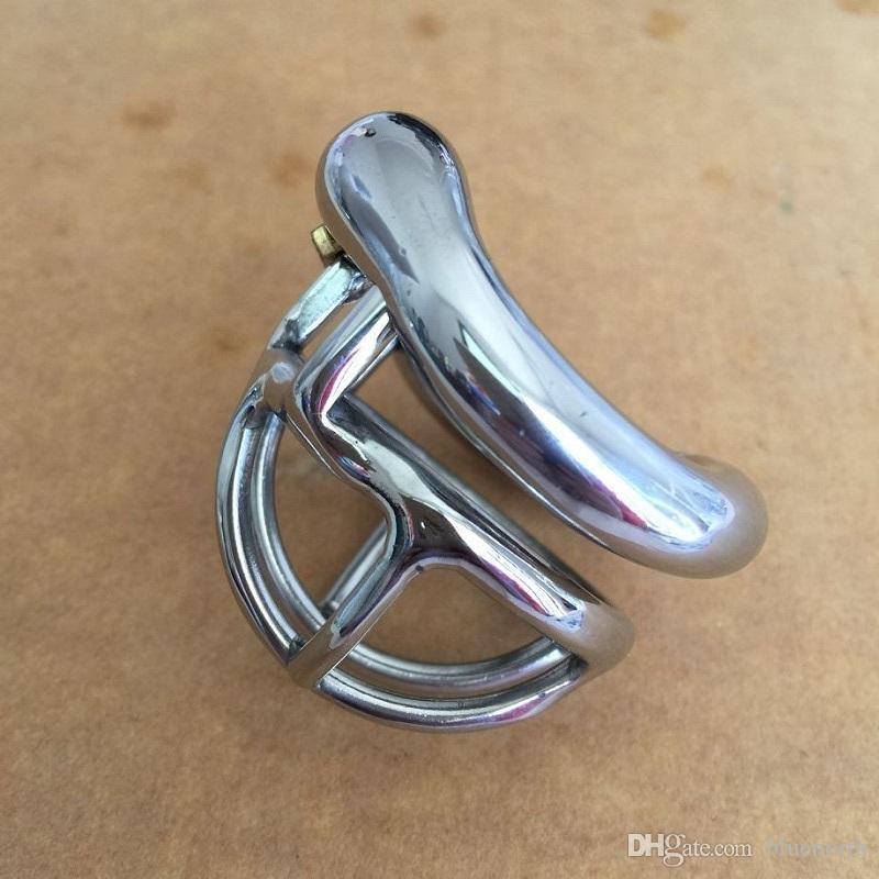 최신 잠금 디자인 25mm 케이지 스테인레스 스틸 초소형 남성 순결 장치 1