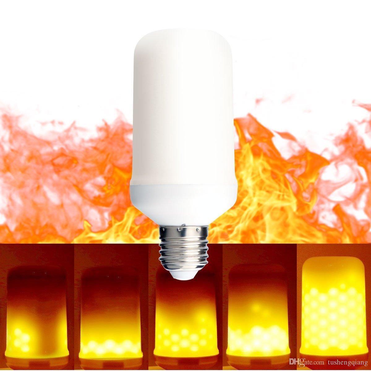 5w Feu Vintage Pour Décorative Atmosphère Outdoor Garden Ampoules Clignote Simulé Light E27 Nature Incendie Émulation Led Flame Lampe Gaz 35ARL4j