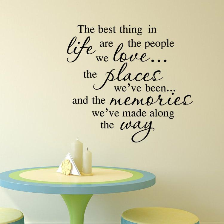 Aw9394 The Best Thing In Life Family Quotes Wall Stickers Removable