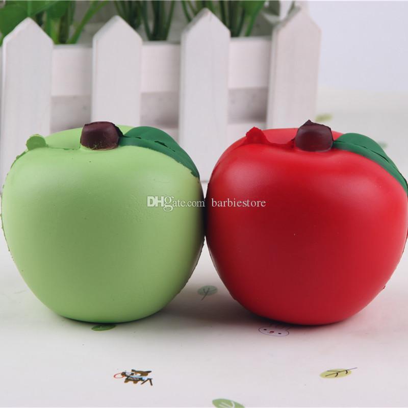7CM Simulation Apple Squishy Slow Rising Soft Téléphone Charmes Bretelles Jouets E00261