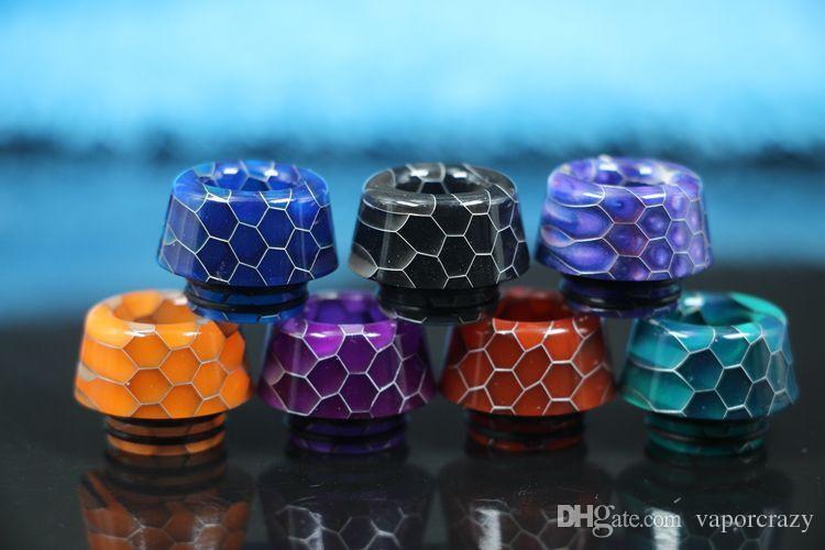810 Thread Resin Drip Tips Snake Skin drip tips 8 Styles Mouthpiece fit for TFV8 TFV12 TFV8 Big Baby Tank K Goon 528 RDA