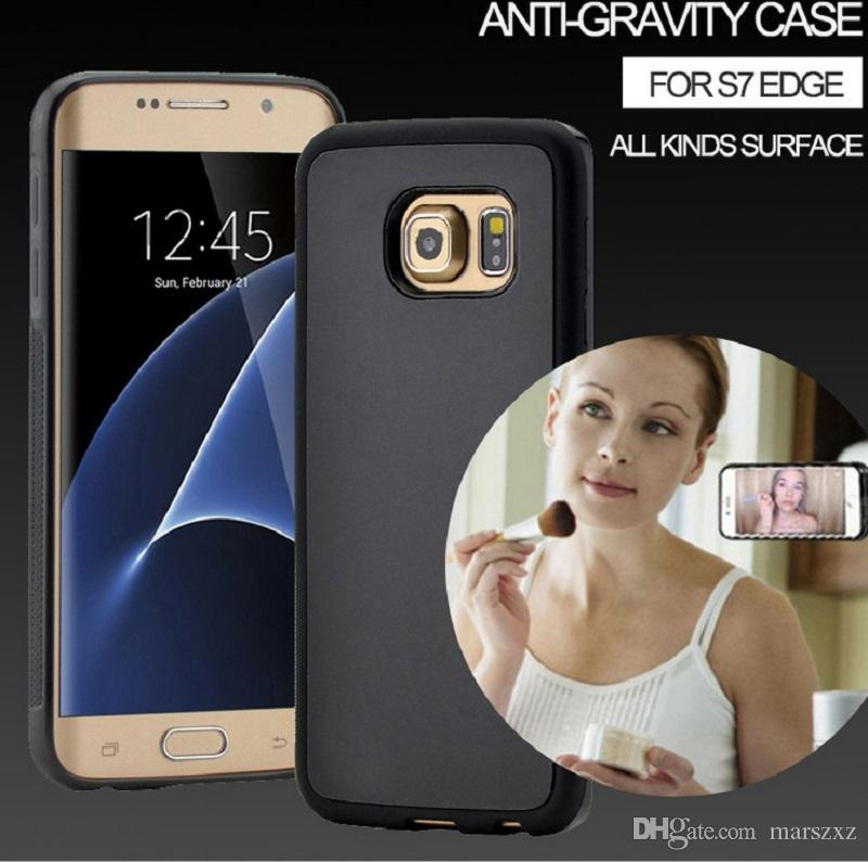 size 40 d9c20 03c13 Anti Gravity Cell Phone Shell para Samsung S7 S6, Gravity Selfile Magical  Nano Sticky Phone Case para iPhone 7