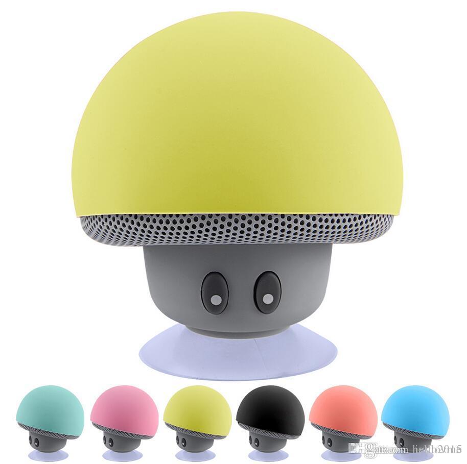 2016 브랜드 뉴 쿨 가제트 다채로운 미니 블루투스 스피커 스피커 스피커 3.0 휴대 전화 IP6S에 대한 마이크와 흡입 컵 도매