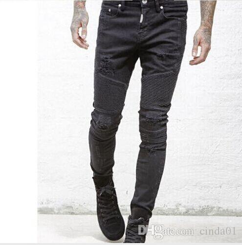 b25f0f7a 2019 Represent Clothing Designer Pants Slp Blue/Black Destroyed Mens Slim  Denim Straight Biker Skinny Jeans Men Ripped Jeans From Cinda01, $38.56 |  DHgate.