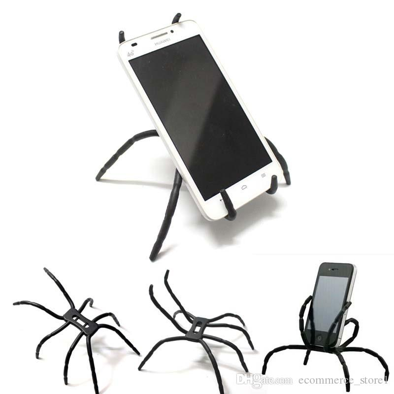 Universal Spider Mobile Phone Holder For Iphone 7 6 Plus Stent For Samsung S6 Edge S5 Car Holder Stand Support Cell Phone Holder