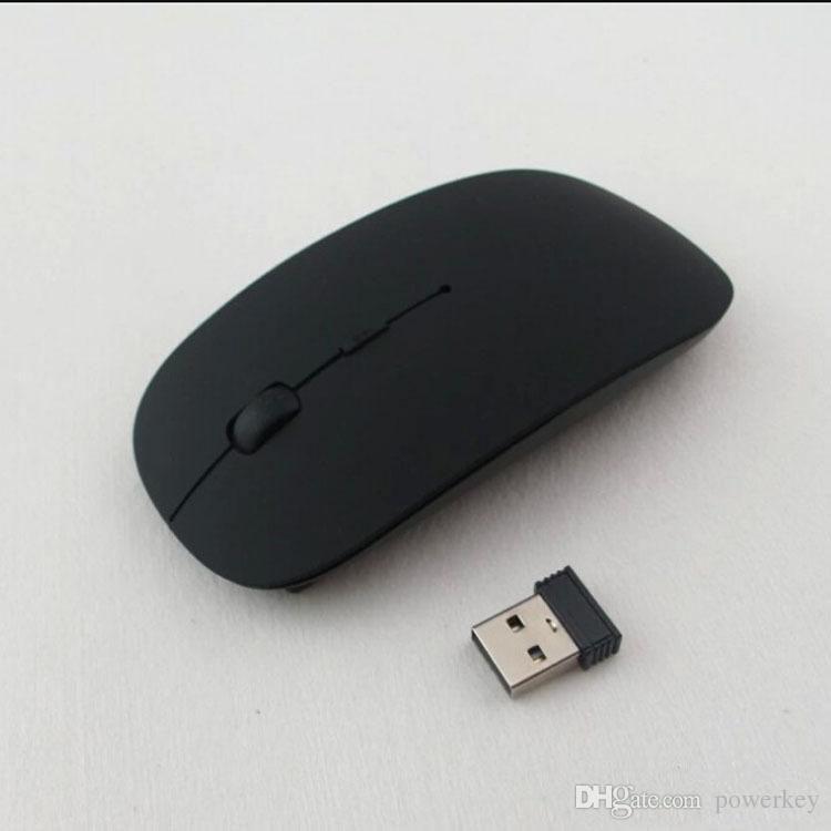 Высочайшее качество Candy Color ультратонкая беспроводная мышь и приемник 2.4G USB оптический цветной Специальное предложение компьютерная мышь