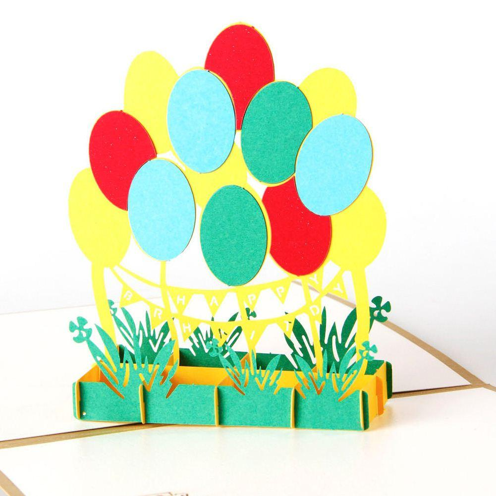 Handmade Paper Art Carving 3D Foldable Greeting Card Pop UP Exquisite GreetingGift Birthday Cards Photo From