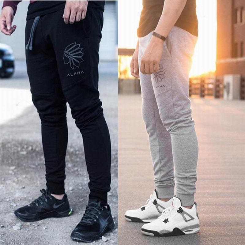 2019 2017 Casual Gym Men Fashion Pencil Pants Cotton Bodybuilding Pants  Slim Fit Springl Workout Clothes Thin Pants From Wanjia55 78b248d18