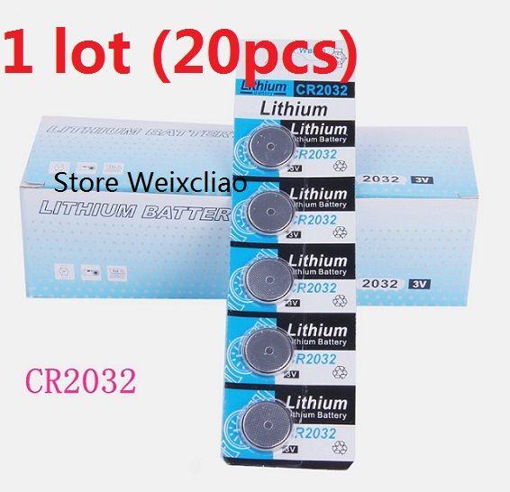 20 قطع 1 وحدة cr2032 3 فولت بطارية ليثيوم أيون زر خلية البطارية cr 2032 3 فولت بطاريات ليثيوم أيون عملة شحن مجاني