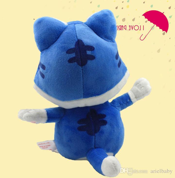 New Super Mario 3D World Blue Cat Toad Plush Soft Toy Stuffed Animal Doll Pupazzo Gatto Neko