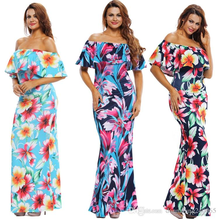 Off-the-shoulder Maxi Dresses Summer 2017 Holiday Party Beautiful ...