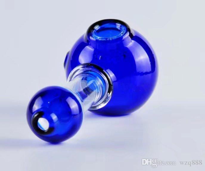 Zweifarben-Runde geformte Blase Kopf, Großhandel Glas Bongs, Glas Wasserpfeife, Wasserpfeife, Raucherzubehör,