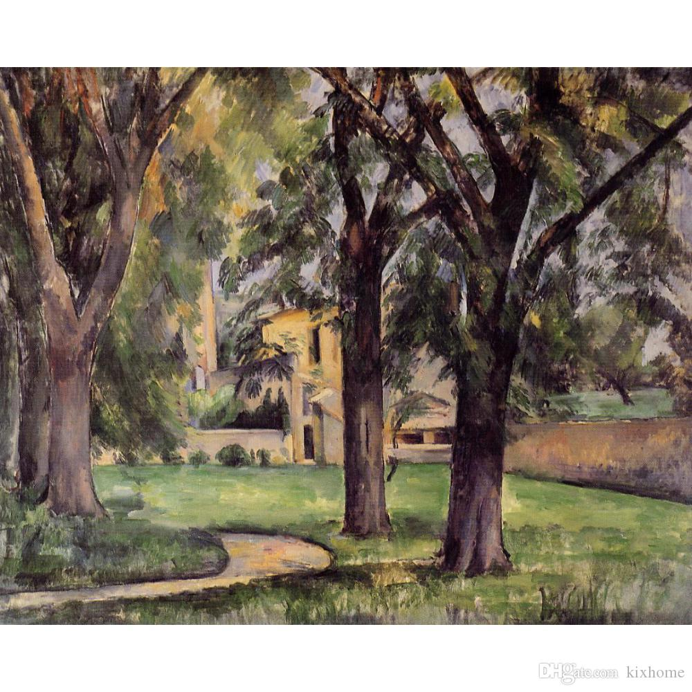 2018 Paul Cezanne Chestnut Tree And Farm At Jas De Bouffan Oil ... for Farm Philippines Painting  555kxo